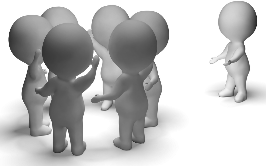 3d characters one excluded from group