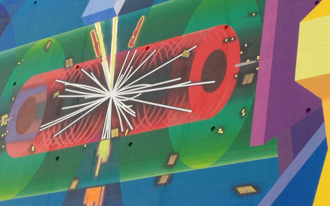 painting of large hadron collider CERN